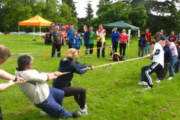 Tug of War game during corporate sports day
