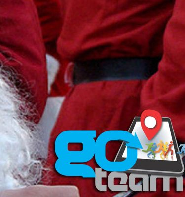 Santa's red suit - worn by Santa during the Go Team Hunt for Santa Challenge.