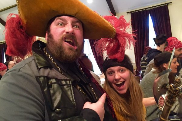 Delegates dressed as pirates for the Trade Winds event