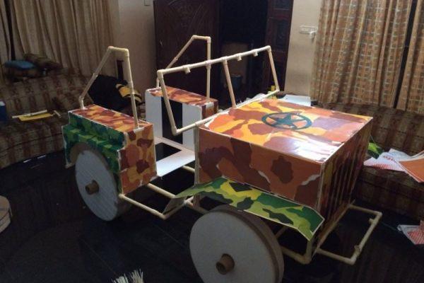 A camo print 4x4 jeep