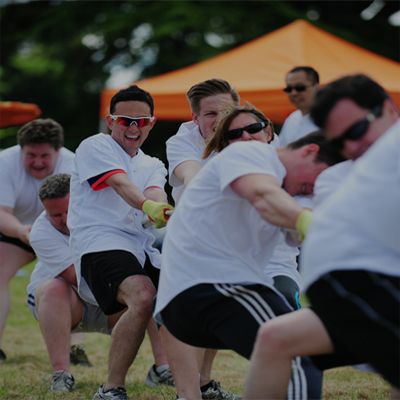 Delegates during Tug of War challenge in Corporate Sports Day