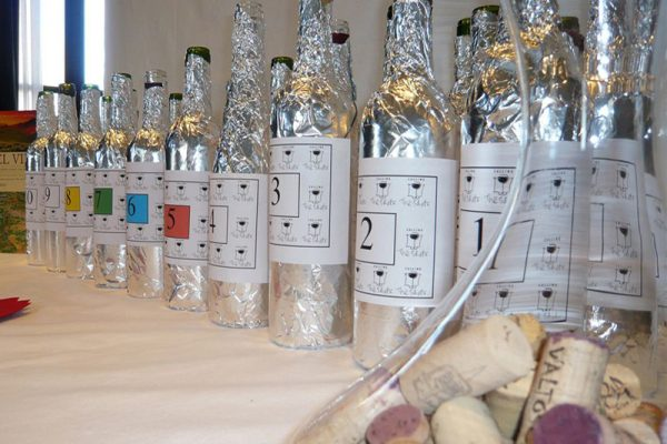 Unbranded wine bottles ready for Calling the Shots