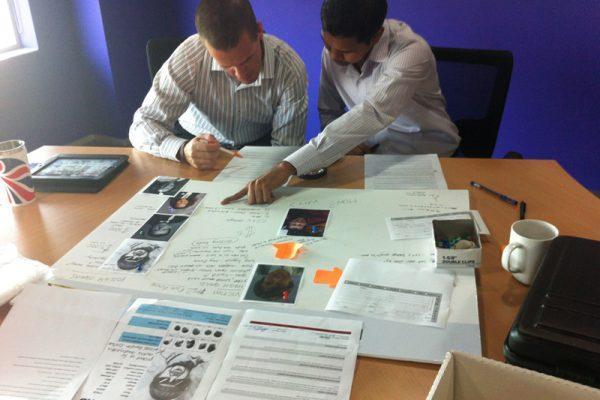 Team creating a suspect sheet in CSI