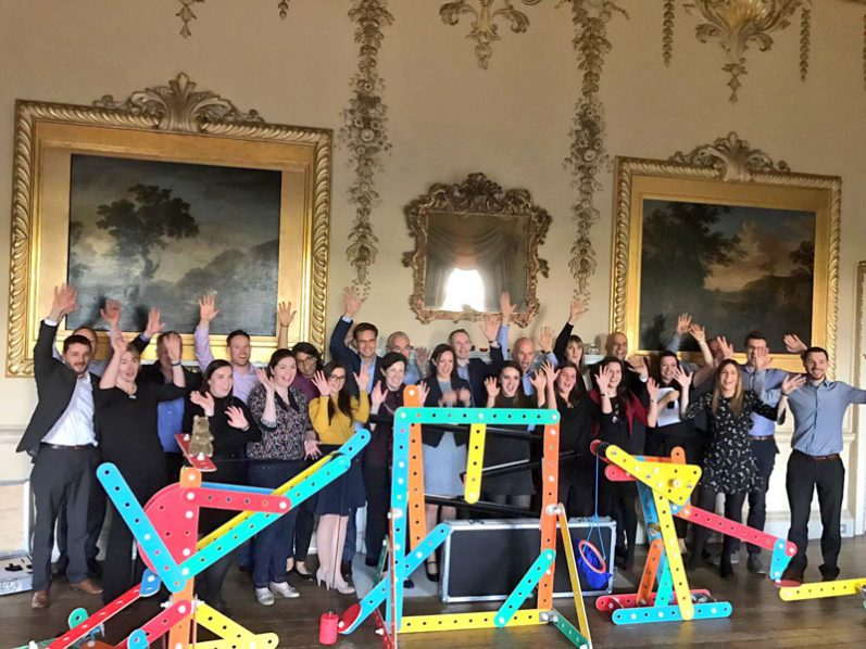 Group picture after Rat Trap team building event with Orangeworks in Carton House.