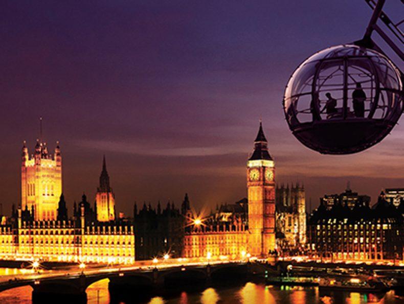 London at night time on Go Team treasure hunt