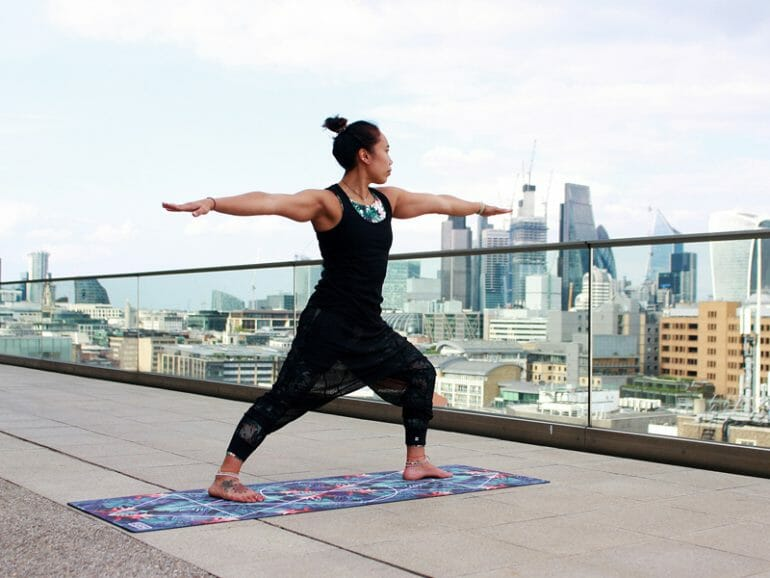 A Tai Chi master practising one of the positions learned during the Orangeworks employee health and wellness programmes.