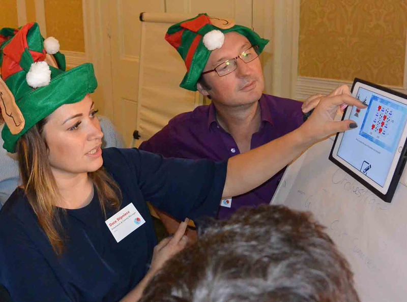 Delegates taking part in challenges during Quickfire Christmas