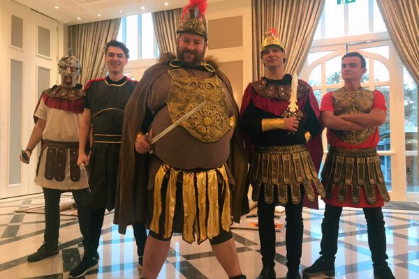 Romans dressed for Flat Out Chariot Challenge